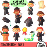 Graduation Boys Clip Art Collection (FULL COLOR ONLY)