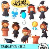 Graduation Girls Clip Art Collection (FULL COLOR ONLY)