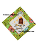 Graduation Cap Brains and Beauty Floral: Green Background