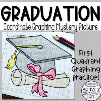 Graduation Cap Coordinate Graphing Picture (First Quadrant Only)