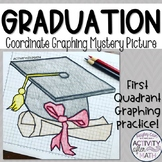Graduation Cap Coordinate Graphing Mystery Picture (First