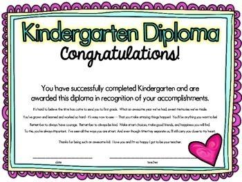 Kindergarten Graduation Cap, Diploma, & End of the Year Celebration Ideas!