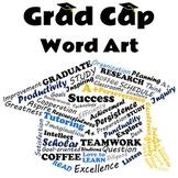 Graduation Cap Word Art