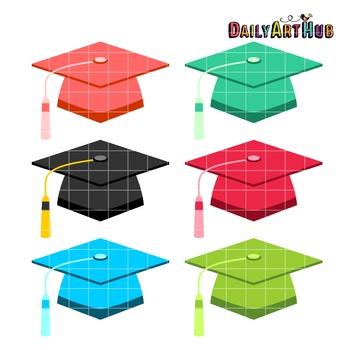 Graduation Caps Clip Art - Great for Art Class Projects!