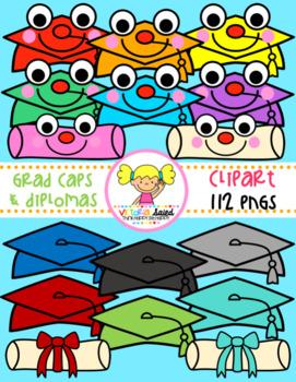 Graduation Caps & Diplomas Clipart