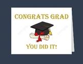 "Graduation Card / Printable Graduation Cards/ 5""x7"" card/ 4.25""x5.5""cards/"