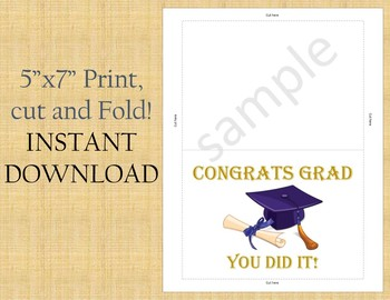 picture about Printable Graduation Cards called Commencement Card / Printable Commencement Playing cards/5\