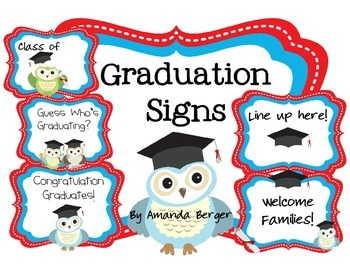 Graduation Ceremony Sign Set