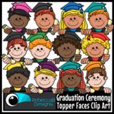 Graduation Ceremony Topper Faces Clip Art - Graduation Kid