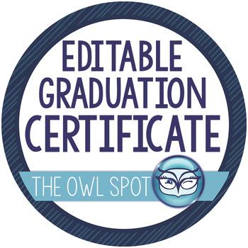 Graduation Certificate Diploma Keepsake and Invitation - Editable!