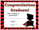 Graduation Certificate - Superhero Theme