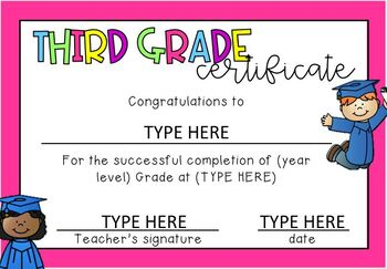 End of Year Graduation Certificates