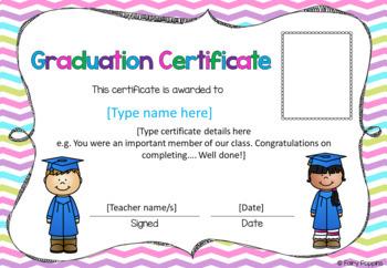 Graduation Certificates - Editable!