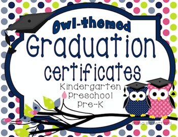 Graduation Certificates Owl Theme