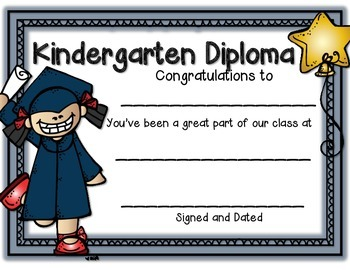 Graduation Certificates for Grades PK-2