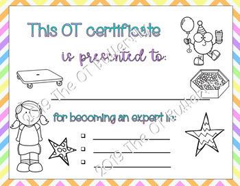 Graduation Certificates for OT