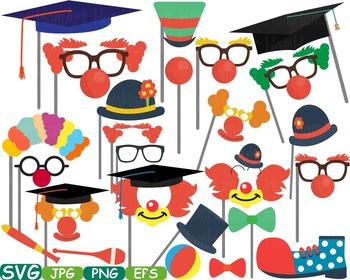 Graduation Circus Photo Booth Props clip art school college grad party svg -229S