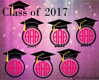 Graduation Class of 2017 Cutting Files SVG PNG EPS dxf ClipArt 716C
