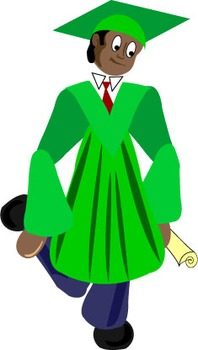 Graduation Clip Art: Cap and Gowns