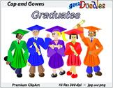 Graduation Clip Art: Cap and Gowns