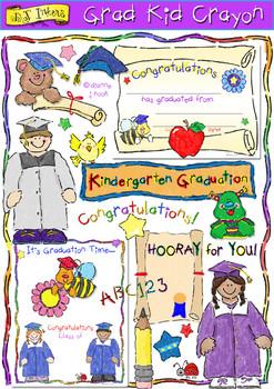 Grad Kid Crayon Clip Art Download