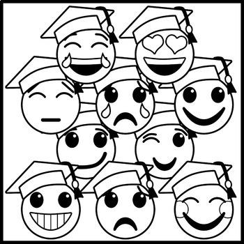 Graduation Emoji Clip Art