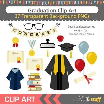Graduation Clip Art (Set of 37)