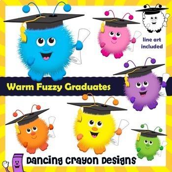 Graduation Clip Art: Warm Fuzzy Graduation Graphics