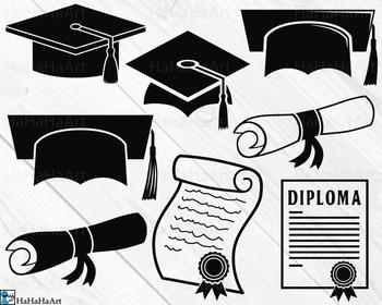 Graduation - Clip Art and Cutting Files Digital Files cod217c