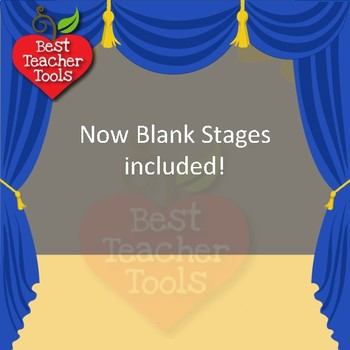 Graduation Clipart, Graduation Stage Backgrounds, Cards, Posters, AMB-1305