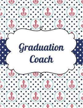Graduation Coach Binder for Organization Nautical Theme