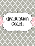 Graduation Coach Binder for Organization Pink and Gray Quatrefoil