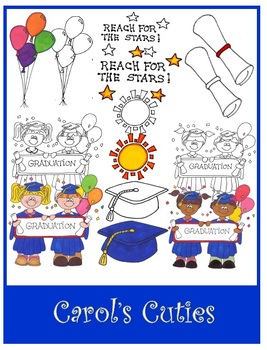 Preschool and Kindergarten Graduation Clip Art Collection