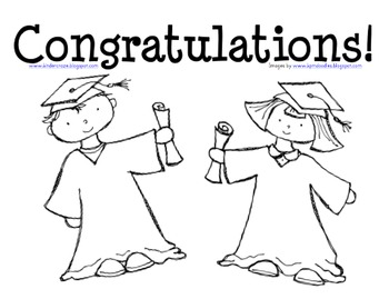 Graduation Coloring Page for Preschool and Kindergarten by Maria Gavin