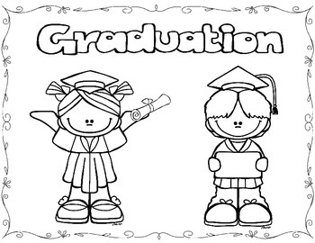 This is a graphic of Striking Preschool Graduation Coloring Pages