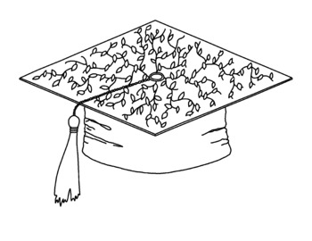 Graduation Coloring Pages Mortarboard Diploma Balloons Printable Set of Twelve