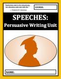 Speeches: Persuasive Writing Mini Unit
