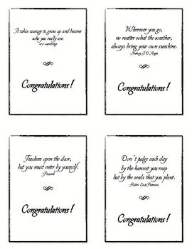 Graduation Congratulations Printable Cards, Inspirational Quotes 2011