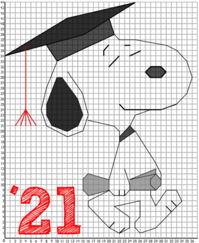Graduation Math Coordinate Graphing Fun! - 2 Versions, 1st Quadrant or all 4