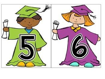 Graduation Countdown Activities and certificates