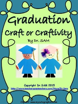 Graduation Craft or Craftivity with Printable Pages for Writing