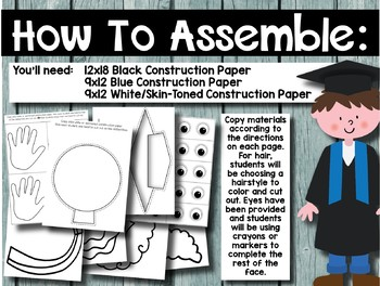 Graduation Craftivity and Writing Project for Grades K-2