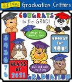 Graduation Critters Clip Art Download