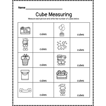 Graduation Day Cube Measuring Activity