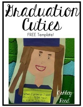 Graduation Cuties { A FREE Craft Template}