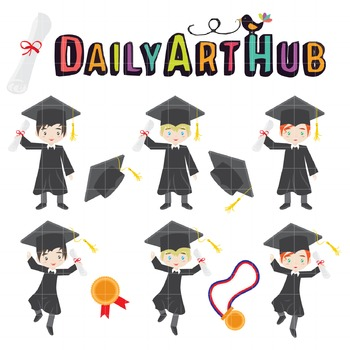 Graduation Day Clip Art - Great for Art Class Projects!