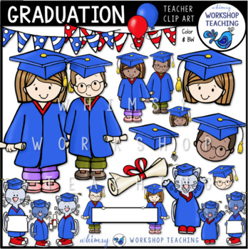 Graduation Day Clip Art - Whimsy Workshop Teaching