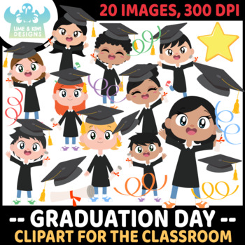 Graduation Day Clipart, Instant Download  Vector Art, Commercial Use  Clip Art