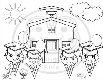 Kindergarten Graduation Coloring Pages Worksheets Teaching Resources Tpt