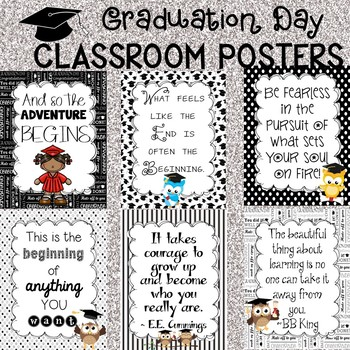 Graduation Day Poster Set for the Classroom